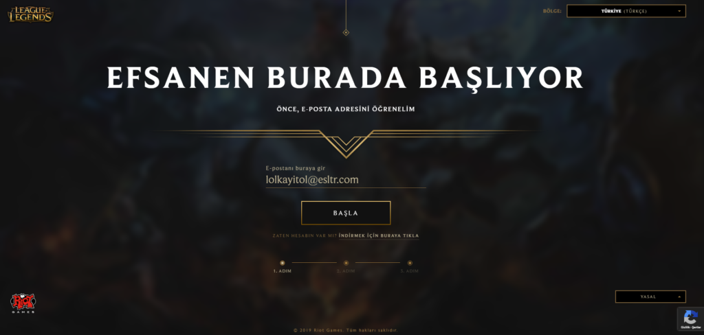 League-of-Legends-Kayit-Olma-Birinci-Adim