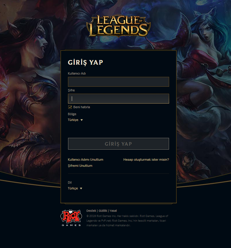 League-of-Legends-Sifre-Degistirme-Birinci-Adim